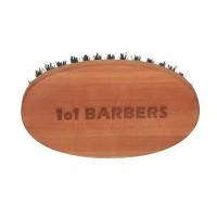 Friseur Produkte24 - 1o1 Barbers Bartbürste Echtholz Birnbaum, Wildschweinborsten