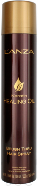 LANZA Keratin Healing Oil Brush Thru Hairspray, 350ml