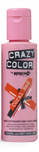 CRAZY COLOR 57 Coral Red, 100ml