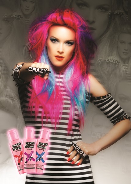 CRAZY COLOR 63 Bubblegum Blue, 100ml