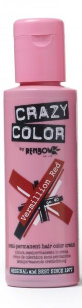 CRAZY COLOR 40 Vermillion Red, 100ml