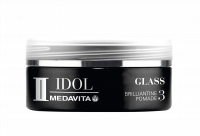MEDAVITA Black Idol Glass Brilliantine Pomade, 50ml