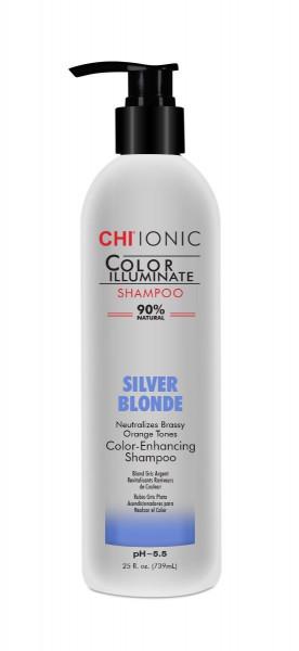 CHI IONIC Color Illuminate Shampoo Silver Blonde, 739ml