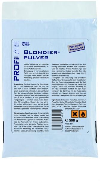 PROFILINE Blondierpulver - blau - staubfrei, 500g