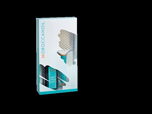 MOROCCANOIL Summer Promotion, 100ml Behandlung + Paddle Brush XL