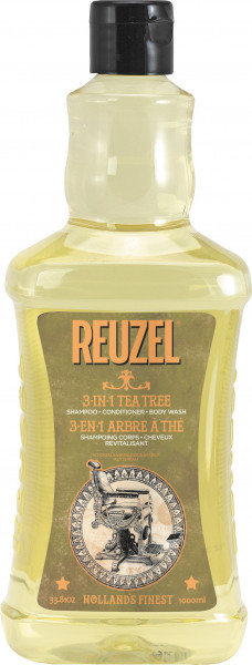 REUZEL 3-IN-1 Tea Tree Shampoo, 1000ml