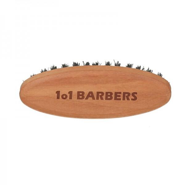 Friseur Produkte24 - 1o1 Barbers Bartbürste Elipse klein, Birnbaum geölt