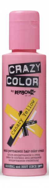 CRAZY COLOR 49 Canary Yellow, 100ml