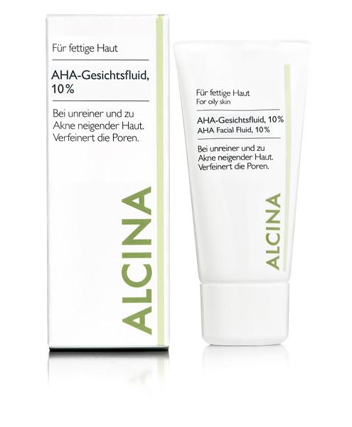 ALCINA AHA-Gesichtsfluid 10%, 50ml
