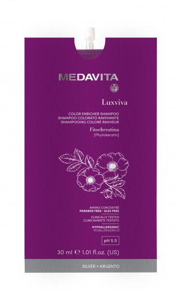 MEDAVITA Luxviva Color Enricher Shampoo Silver, 30ml