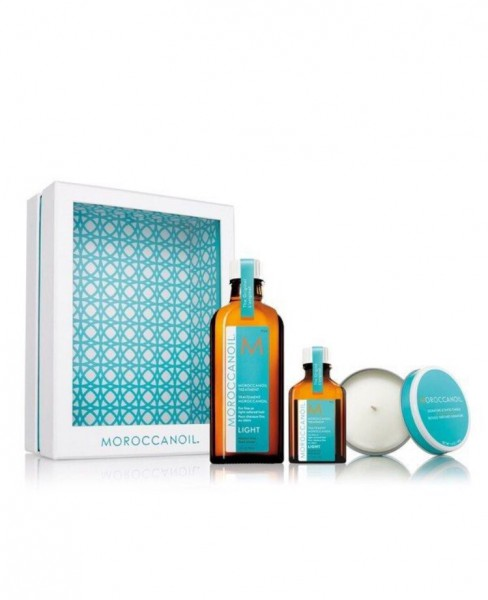 Friseur Produkte24 - Moroccanoil Home & Away Light mit Duftkerze