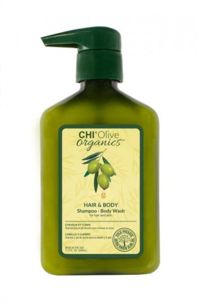 CHI Olive Organics Hair & Body Shampoo, 340ml