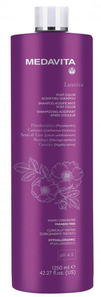 MEDAVITA Luxviva Post Color Acidifying Shampoo, 1250ml