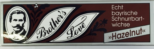 Friseur Produkte24 - Brothers Love Hazelnut Schnurrbartwichse Bartwichse Bartpflege