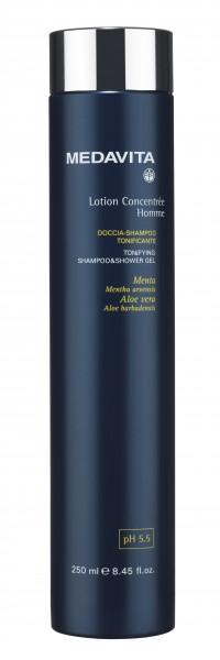 MEDAVITA Lotion Concentrée Homme Tonifying Shampoo & Shower Gel, 250 ml