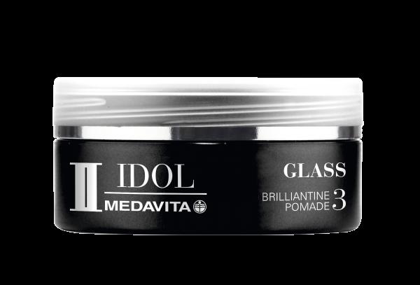 MEDAVITA Black Idol Glass Brilliantine Pomade, 50ml
