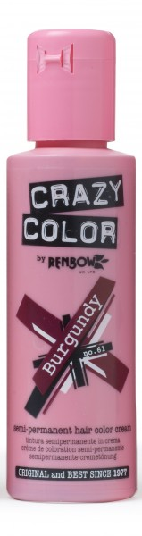 CRAZY COLOR 61 Burgundy, 100ml