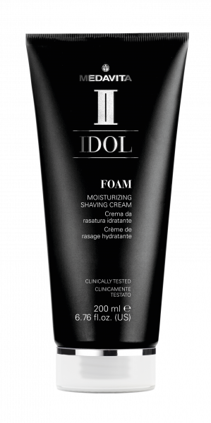 MEDAVITA Black Idol Foam Moisturizing Shaving Cream, 200ml