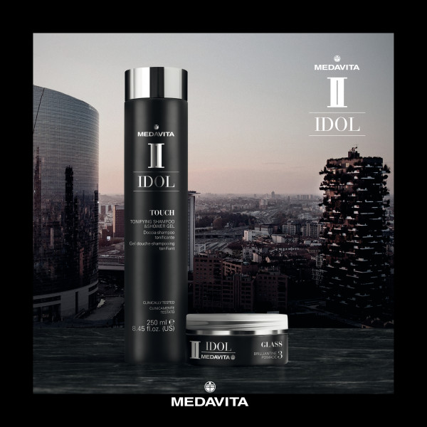 MEDAVITA Black Idol Touch Tonifying Shampoo & Shower Gel, 250ml