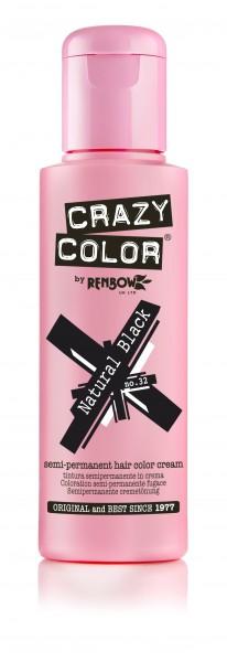 CRAZY COLOR 32 Natural Black, 100ml