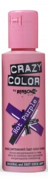CRAZY COLOR 62 Hot Purple, 100ml