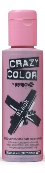 CRAZY COLOR 30 Black, 100ml