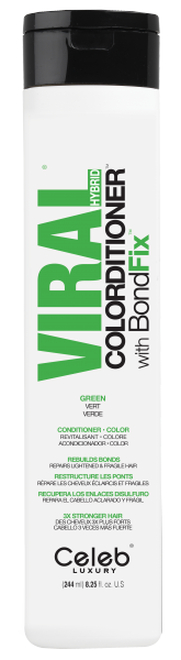 Celeb LUXURY Viral COLORDITIONER Vivid Green, 244ml