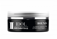 MEDAVITA Black Idol Bound Ultimate Matte Extra Hold Wax, 50ml