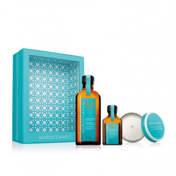 Friseur Produkte24 - Moroccanoil Home & Away Set Inkl Duftkerze